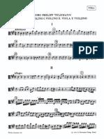 Telemann Quartet (Viola)