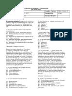 Evaluación de Lenguaje y Comunicación 2do Medio