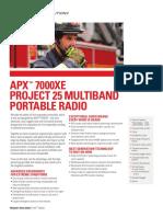 APX 7000XE NA Datasheet