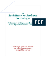 Socialism or Barbarism Anthology