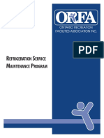 Refrigeration Service Maintenance Program