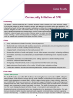 Healthy Campus Community Initiative at SFU