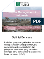 Disaster Management in Indonesia.kuliah Blok Kedkom.mei2012