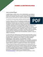 Ensayo Sobre La Biotecnologia Juan Rodriguez