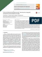 Una sonda fluorescente de encendido para la detección de Hg2 + utilizando oro.pdf
