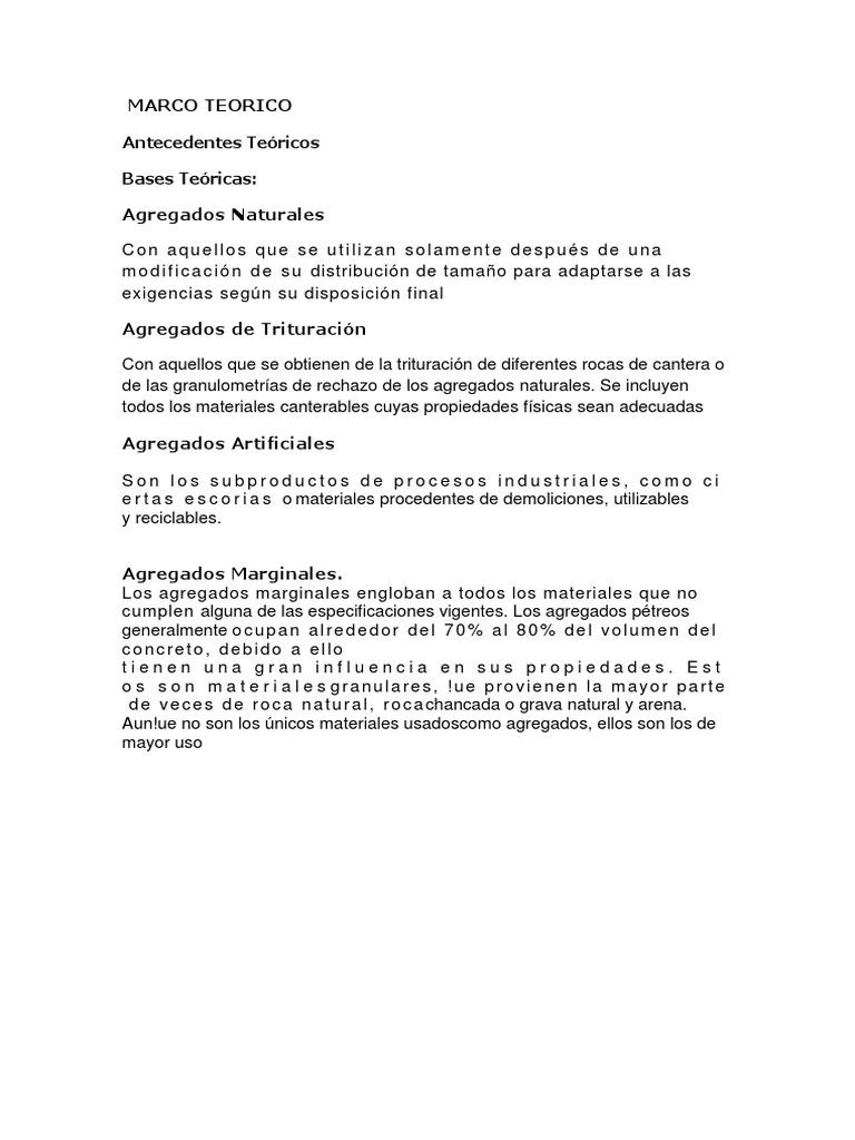 Marco Teorico Canteras