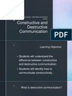 constructive and destructive communication