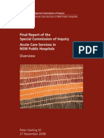 Final Report Special Commission of Inquiry into Acute Care Services in NSW Hospitals