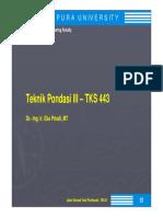 Teknik Pondasi III-1