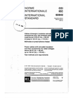 IEC-60840-2-1999. Power Cables With Extruded Insulation