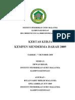 Kertas Kerja Derma Darah PBSM