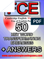 Fce - 50 Key Word Transformation Exercises (Preview)