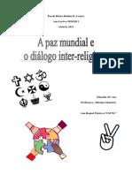 A Paz Mundial e o Diálogo Inter