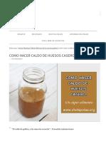 Como Hacer Caldo de Huesos Casero _ Dieta Paleo