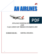 Indian Airlines - Finance System Study and Valuation of Thei