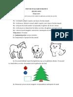 12 Test de Evaluare Sumativa