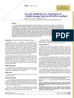 Method Development and Validation for Estimation of Moxifloxacin Hcl in Tablet Dosage Form by Rp Hplc Method 2153 2435.1000109