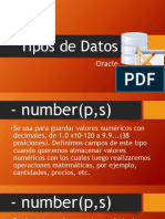 Tipos de Datos (Varchar2,number)