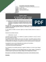 Procès Verbales de l' Assemblée Générale Ordinaire Du 18 11 2017