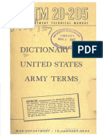 TM20-205 Dictinary of Army Terms 1944