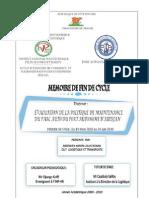Politique de maintenance du Parc auto du Port Autonome d'Abidjan - Memoire - 210- Assemien Amon