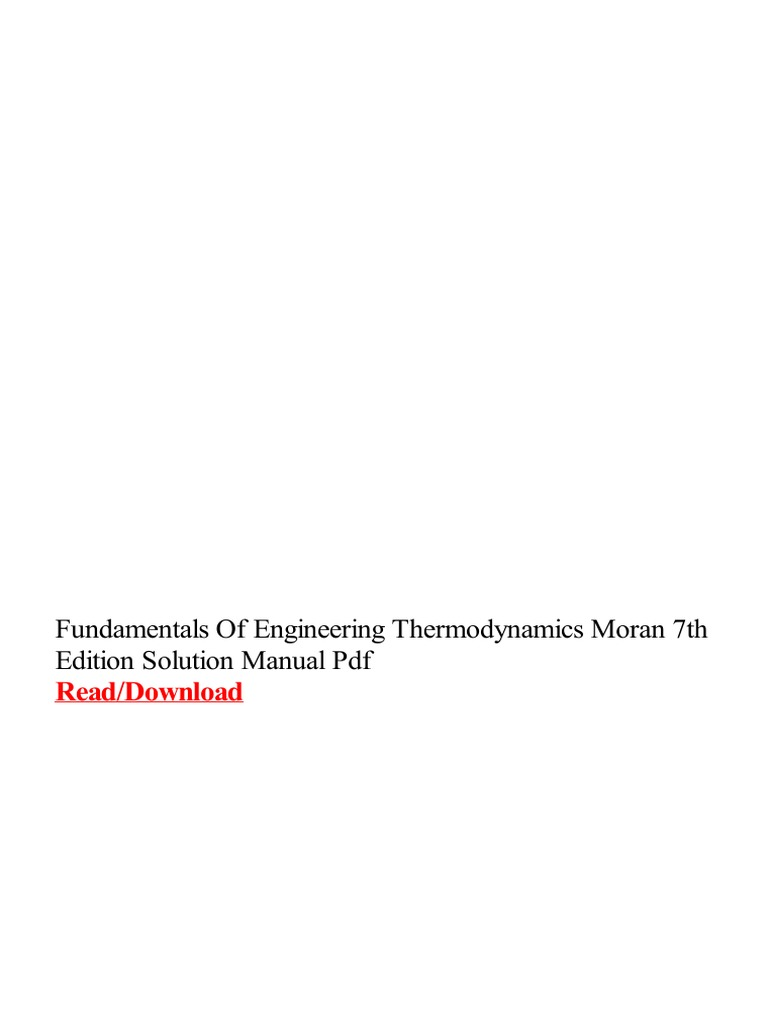 Fundamentals of engineering thermodynamics moran 7th edition fundamentals of engineering thermodynamics moran 7th edition solution manual pdf portable document format e books fandeluxe Gallery