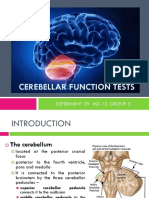 Cerebellar Function Tests