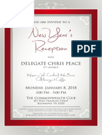 New Year's Reception for Del. Chris Peace