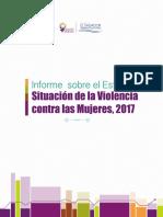 Informe Sobre El Estado y Situación de La Violencia Contra Las Mujeres, 2017