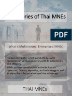 The Stories of Thai MNEs