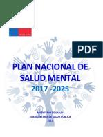 2017 Plan Nacional de Salud Mental 2017-2025