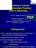 Fat Content in Instant Complementary Feeding Sold in Semarang