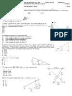 III Prova Bimestral Matematica 9 AnoA