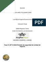 Fase IV AP14 AA22 Estudio de Seguridad de Unidad de Negocio