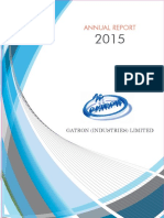 Gatron Annual Report 2015