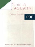 Parte 5 - San Agustín-Obras de San Agustín III_ Obras Filosóficas (1963) Del Libre Arbitrio