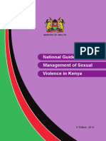 Kenya Natl Guidelines on Mgmt of Sexual Violence 3rd Edition 2014