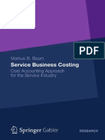 Costing Cost Accounting Approach for the Service Industry