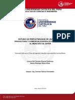 Huerta Lucero Estudio Pre Factibilidad Empresa Productora Comercializadora Bixina Japon