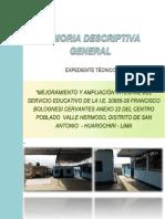 Memoria Descriptiva i.e.20955-28 -Huarochiri