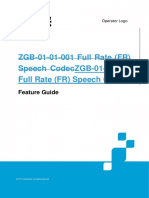 ZGB-Full Rate (FR) Speech Codec Feature Guide ZXUR 9000(V11.2.0)
