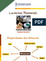 CN 7Ano - Propriedades Dos Minerais