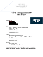 Litigation Release - Why is Strategy So Difficult 201102