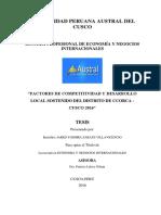 Tesis Factores de Competitividad y Desarrollo Local Sostenido Del Distrito de Ccorca - Cusco 2016