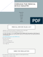 Laws Governing the Medical Device Industry