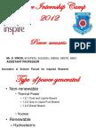 Inspire Internship Camp 2012