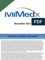 2017 11 29 MiMedx Investor Presentation Final