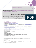 Master Lea Technologie de La Traduction