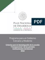 Criterios Homologación 2016 Transparencia
