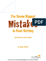 7 Mistakes in Goal Setting